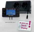 """Digitales Temperatur Mess- und Regelgerät zur gleichzeitigen Steuerung von  Stab- und Bodengrundheizern """"heat controller duo"""" II"""