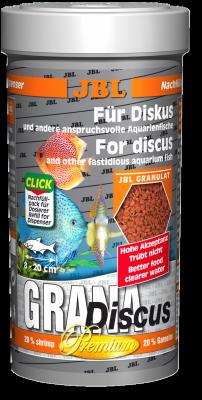 JBL GranaDiscus Premium-Hauptfuttergranulat für Diskusbuntbarsche, 250ml